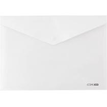 Папка-конверт А4 прозора на кнопці, біла (непрозора)
