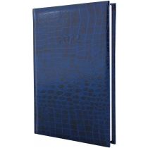 Щоденник датований 2020, CROCO, синій, А5