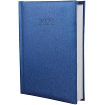 Щоденник датований 2020, ТЕКСТИЛЬ, синій, А5