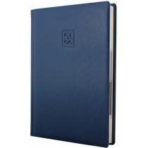 Щоденник датований 2021, LIZARD, синій, кремовий блок,А5