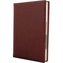 Щоденник датований 2020, LIZARD, коричневий, кремовий блок,А5