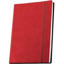 Діловий записник VIVELLA, А6, м'яка обкладинка, гумка, білий блок лінія, червоний