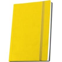 Діловий записник VIVELLA, А6, м'яка обкладинка, гумка, білий блок лінія, жовтий