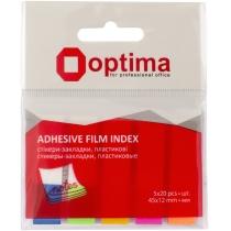 Стікери-закладки Optima, 45х12, 5 кольорів, 100 шт.
