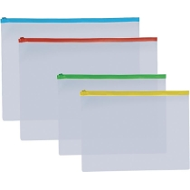 Конверт на бліскавці, B5, прозорий