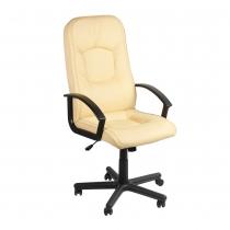 Крісло OMEGA BX P ECO-07, Екокожа ECO, бежевий, Пласт База, Пласт. Подлокот