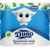 Папір туалетний 2 шари ДИВО Soft 4 рулони, білий