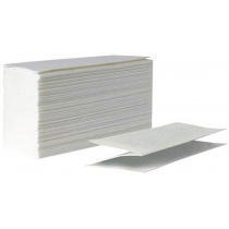 Рушники паперові 2 шари V cкладання ТЕМА, 150-160 шт,  пакування ПВХ, білі