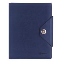 Бізнес-організатор на кнопці, 135 *185 мм, на кільцях, синій, папір 80 г/м2, кремовий