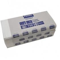 Рушники паперові 2 шари V складання Fesko, 150 шт, білі