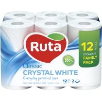 Папір туалетний 2 шари Ruta Classic  9+3 рулони, білий