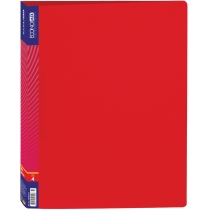 Папка пластикова А4 на 4 кільця, червона
