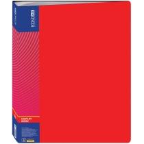 Папка пластикова з 60 файлами, червона