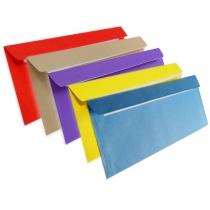 Конверт Е65 25 шт (1+1), скл кольоровий (асорті)