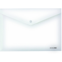 Папка-конверт А4 прозора на кнопці, прозора