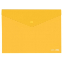 Папка-конверт  В5  прозора на кнопці, жовта(Е31302-05)