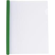 Папка А4 з планкою-затиском 6 мм (2-35 аркушів), зелена