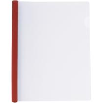 Папка А4 з планкою-затиском 6 мм (2-35 аркушів), червона