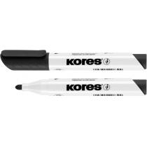 Маркер для білих дошок KORES 2-3 мм, чорний