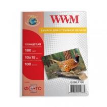 Фотопапір WWM 10x15см, глянцевий, 180 г/м2, 100 арк.