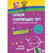 Набір кольорового картону А5, 10 арк.,