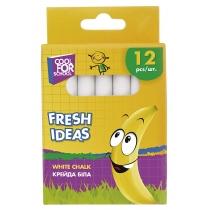 Крейда шкільна біла Fresh Ideas, 12 шт.