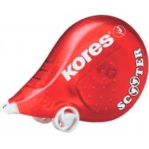 Коректор стрічковий Kores SCOOTER, 4,2 мм х 8м,  червоний