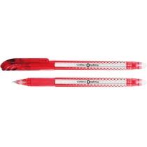 Ручка кулькова самостираюча Optima CORRECT червона