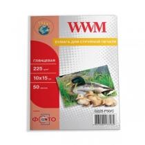 Фотопапір WWM 10x15см, глянцевий, 225 г/м2, 50 арк.