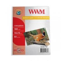 Фотопапір WWM 10x15см, глянцевий, 180 г/м2, 50 арк.