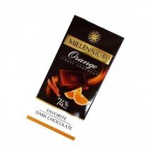 Шоколад чорний Millennium з апельсин цедрою 74% 100 г
