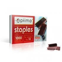 Скоби для степлерів Optima, №10, 1000 шт, мідні
