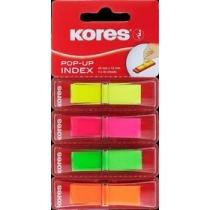 Стікери-закладки Kores, 12х45, пластикові