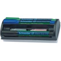 Набір маркерів для дошок та фліпчартів Schneider MAXX 110 з губкою