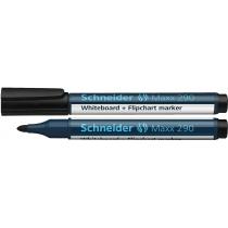 Маркер для дошок та фліпчартів SCHNEIDER MAXX 290 2-3 мм, чорний