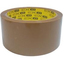 Стрічка клейка пакувальна (скотч) Economix, коричнева, 48мм*50м