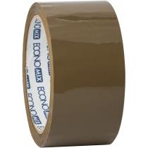 Стрічка клейка пакувальна (скотч) Economix, коричнева, 48мм*66м