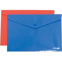 Папка-конверт А4 непрозора на кнопці, фактура помаранч