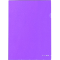 Папка-куточок A4 Economix, фіолетова