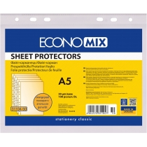 Файл для документів А5 Economix, 30 мкм, фактура