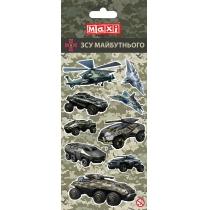 Наліпки полімерні об'ємні глянцеві «Military», 10*18 см