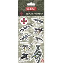 Наліпки полімерні пласкі «Military», 10*18 см