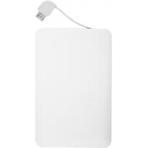 Портативний зарядний пристрій POWER CARD 2500 mAh, білий