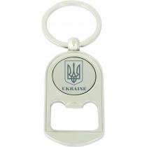 Брелок металевий з нанесенням UKRAINE