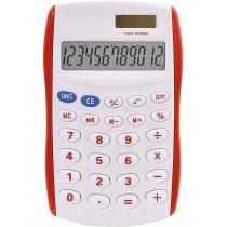 Калькулятор кишеньковий Optima 8 розрядів, розмір 123*77*14 мм, біло-червоний