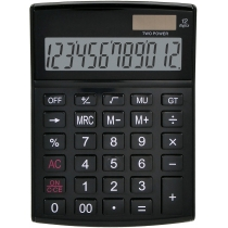 Калькулятор настільний Optima 12 розрядів, розмір 146*105*26 мм, чорний