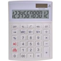 Калькулятор настільний Optima 12 розрядів, розмір 146*105*26 мм, білий