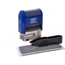 Штамп самонабірний GRAFF 4911 P3 DIY, 3 ряд., 38х14 мм (1 каса), синій