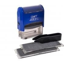Штамп самонабірний GRAFF 4913 P3 DIY, 5 ряд., 58х22 мм (2 каса), синій