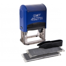 Штамп самонабірний GRAFF 4927 P3 DIY, 8 ряд., 60х40 мм (2 каса), синій